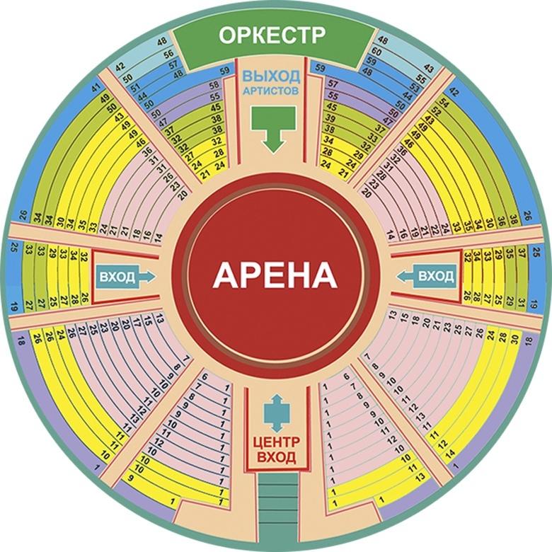 Кемеровский цирк схема зала
